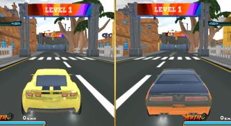 2 kişilik araba yarışı oyunu