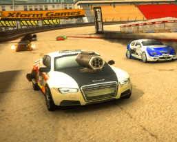 ateş eden araba yarışı