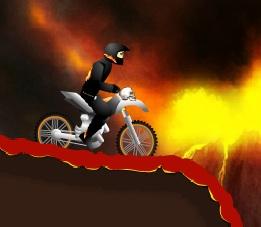 ateşler içinde motor sürme