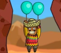 balonla uçan adam