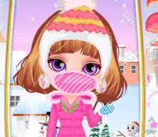barbie bebek kışlık kıyafet giydirme