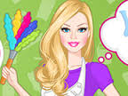 barbie nin evini temizleme