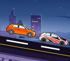 basit araba yarışı