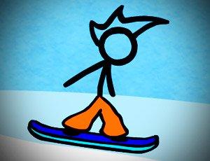 çöp adam snowboard