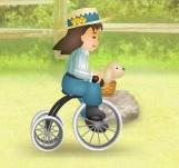 engelli yolda bisiklet sür