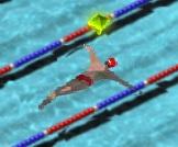havuzda yüzme yarışı