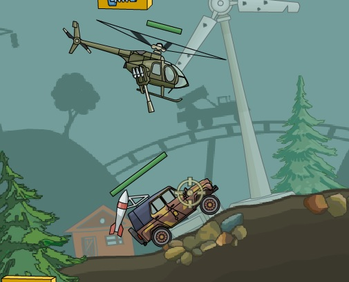 helikopterle arabayı vurma