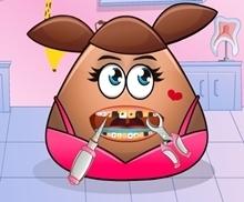 kız pou diş bakımı