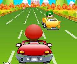 mario minik arabayla yarış