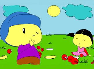 pepe piknikte boyama