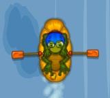 rafting yapan kurbağa
