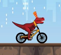 rex bisiklet sürüyor