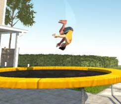 trambolinde zıplama oyunu