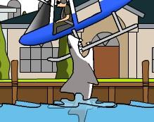 uçağı yiyen köpek balığı