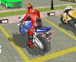 yarış motoru park etme